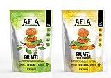 Vegan/Gluten Free Frozen Original Falafel & Spicy Turmeric Falafel Bundle - Pack of (10) bags - (approx 140 count) - Just Heat & Eat!