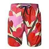 Romantic Love Valentine's Day Summer Quick Dry Casual Swim Wear With Pockets