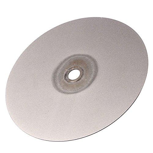 Letbo New 6 Inch 500 Grit Diamond Coated Flat Lap Wheel 150mm Lapidary Grinding Polishing Wheel