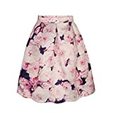 Womer Girls Beautiful Printed fit Thin Overknee Expansion Skirt Midiskirt