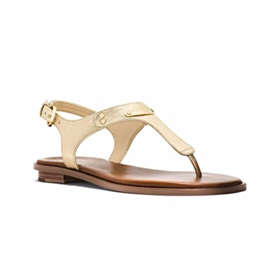 82b6c753dd5 Michael Kors Mk Plate Thong Sandals Tan  Amazon.co.uk  Clothing