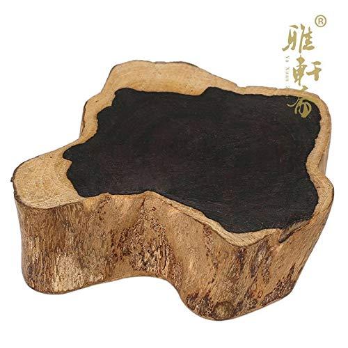 ZAMTAC Rosewood Handicraft Stone Base Wood Ornaments Ebony Irregular teapot Supporting Solid Wood seat Chamfer Coasters - (Size: 18x - Ebony Seat Wood