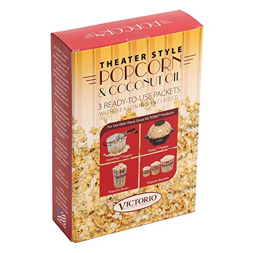 Theater Style Popcorn And Coconut Oil 3 Pack By Victorio