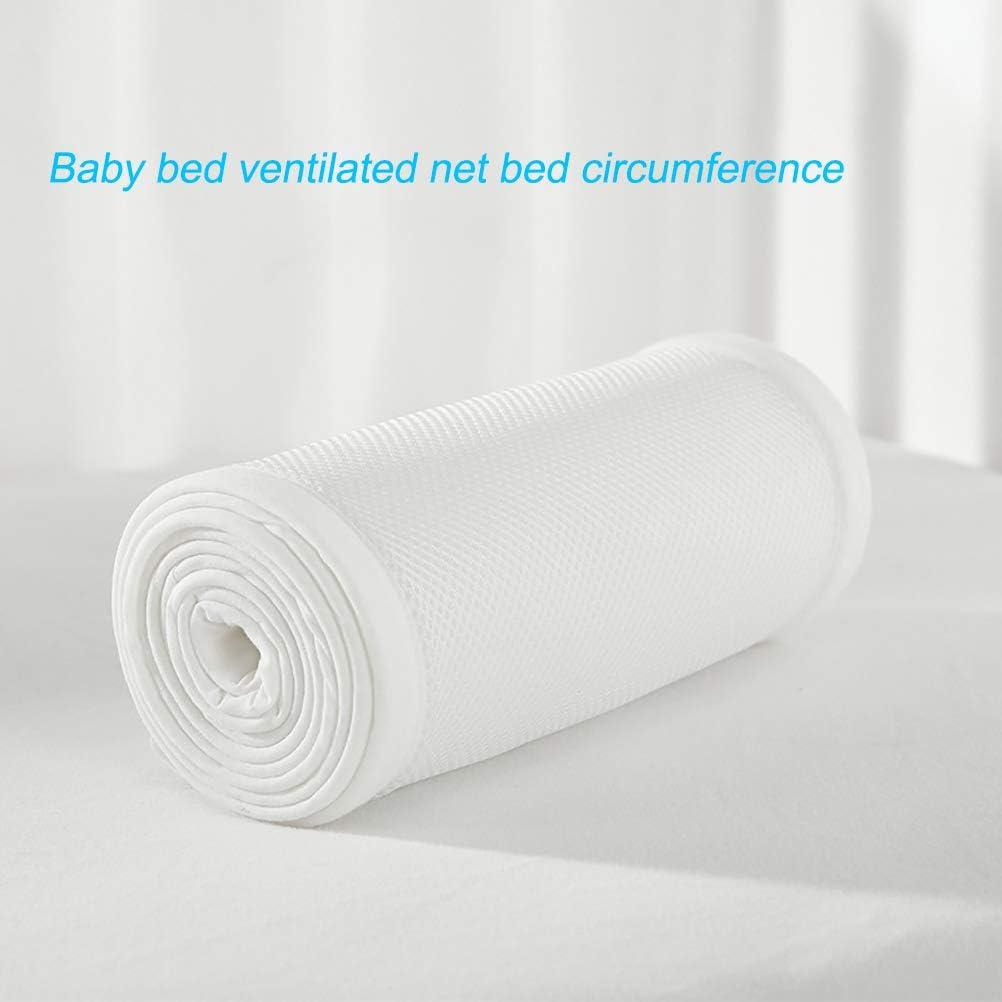 Kylewo 2 TLG Atmungsaktiv Kinderbett Sto/ßstange Unisex Babybett Nestchen Baby Kantenschutz Bettausstattung