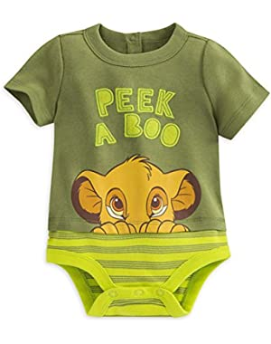 Disney Store Lion King Baby Boy Short Sleeve Bodysuit Size 18-24 M