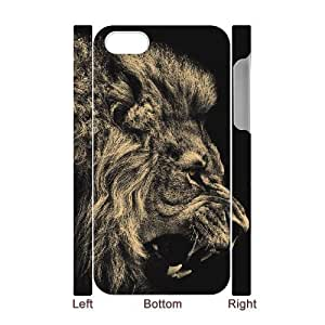 3D Nuktoe Lions 3 Case for IPhone 4/4s Funny, Case for Iphone 4s for Women for Teen Girls with White by icecream design