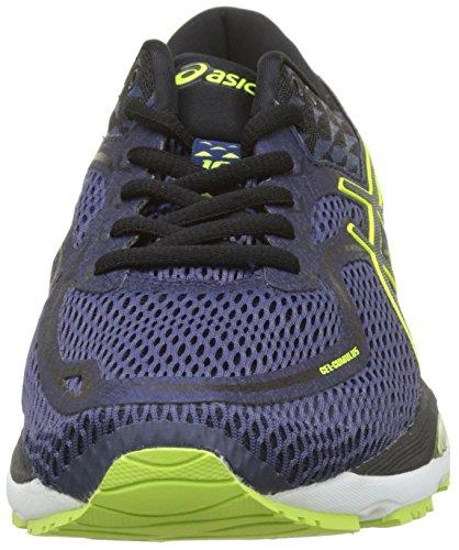 Asics Gel-Cumulus 19, Scarpe Running Uomo Blu (Indigo Blueblacksafety Yellow 4990)