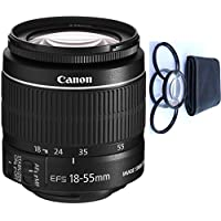 Canon 18-55mm IS STM Lens (WHITE BOX) + 4pc Macro Lenses Set (+1 +2 +4 +10)