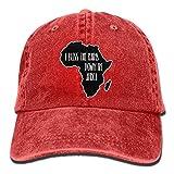 Men's Women's Adjustable Denim Fabric Baseball Caps I Bless The Rains Down in Africa Trucker Cap