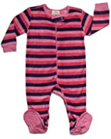 "Leveret Footed Fleece ""Multi Striped"" Pajama Sleeper (Size 6M-5T)"