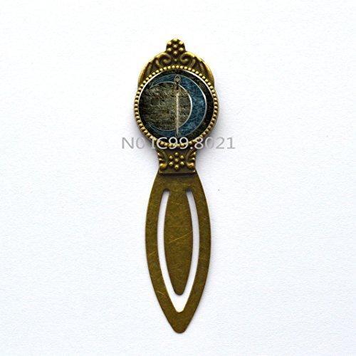 (Blue Moon and patterns of Celtic Swords Wholesale Bookmark Bookmarker Bookmark chocker Bookmark Moon Women's Best Friend Gifts.XT071)