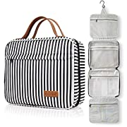Toiletry Bag, WDLHQC Travel Hanging Makeup Bag ,Waterproof Large Cosmetic Make up Organizer for Travel Accessories Kit…