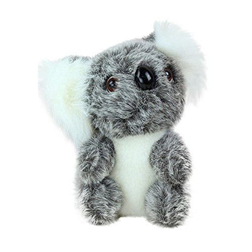 h Animals Cute Stuffed Simulation Koala Zoo Animals Gift Koala Toy Children Doll 13cm (gray) ()