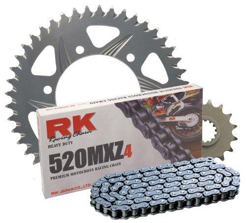RK Racing Chain 3012-978Z Silver Aluminum Rear Sprocket and 520MXZ4 Chain Race Kit [並行輸入品]   B07PJH6X6M