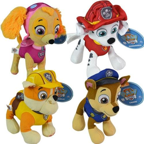 "Paw Patrol 9"" Plush Set Included Marshall, Sky, Chase & Rubble Collection Set"