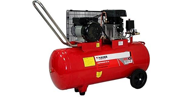 Mader 37159 Compresor de Aire con Correa, 100L, 2.75Hp, Monofásico ...