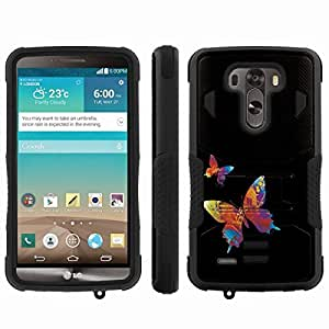 [ArmorXtreme] Hybrid Rugged Armor Design Image Protect Case With Kickstand (Two Butterflies) for LG G3