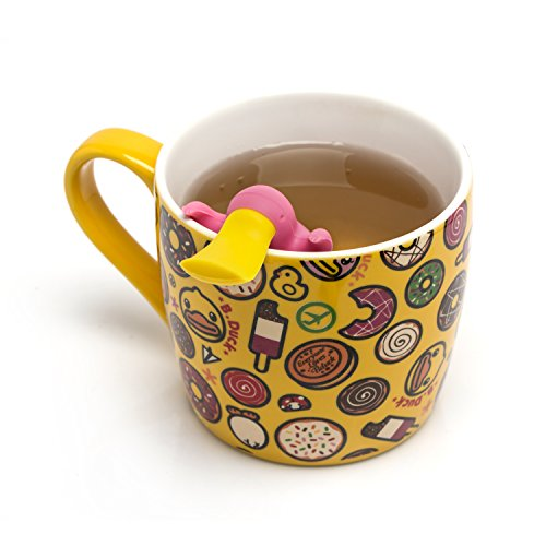 Tea Infuser Gift Set for Loose Leaf Tea, Cute Platypus Tea Strainer Pair in Lovely Gift Box, Ideal Couples Gift, Set of 2, Grey and Pink by MiraMiko (Image #8)