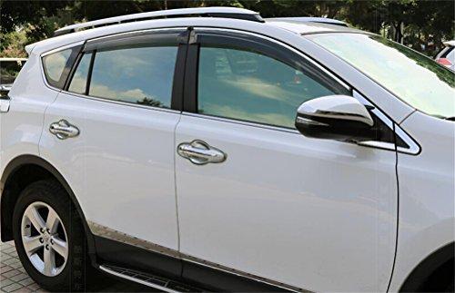 Vesul Side Window Visor Vent Rain Guard Wind Deflectors Shield Sun Shade Smoke Gray Compatible with Toyota RAV4 2013 2014 2015 2016 2017 2018 from Vesul