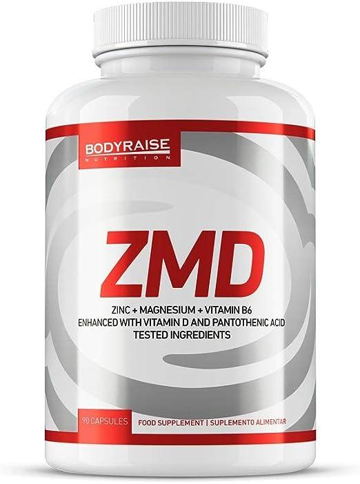 Bodyraise - ZMD 90 Cápsulas - Zinc, Magnesio y B6 - Fórmula de Vitaminas y Minerales Esencial para Deportistas - Potencia el Sistema Inmune - 30 Dosis: Amazon.es: Salud y cuidado personal