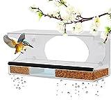 Window Bird Feeder - Homeme Large Bird Feeder With Drain Holes & Removable Tray