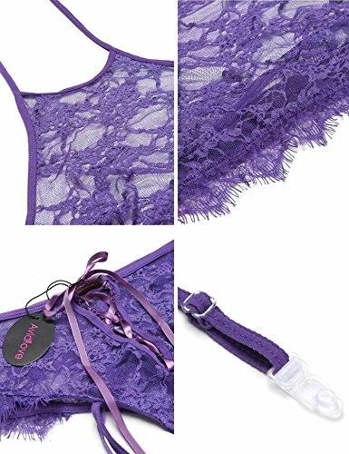 Avidlove - Medias de liga - para mujer Purple-Style-1