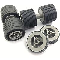 OKLILI PA03575-K011 PA03575-K012 PA03575-K013 Pick Roller Set Brake Roller Separator Roller for Fujitsu fi-6400 fi-6800