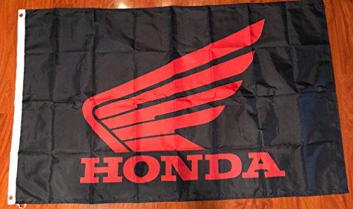 Honda Car Flag 3 x 5 feet Red Black NEW grommets - banner Ba
