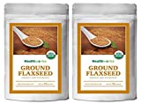 Healthworks Flaxseed Cold-Milled Powder Ground Raw Organic, 4lb (2 2lb Packs)