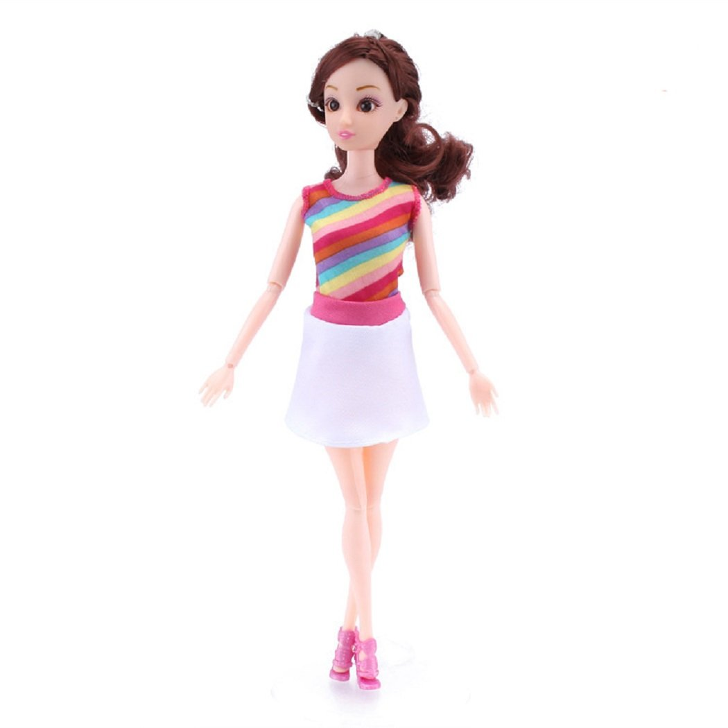 HOOPE Long Dresses, Sundresses, Pants /& Tops 5 Pack Barbie Doll Fashion Casual Wear Clothes Party Gown Outfits for Girls Babrie Lovers Birthday Christmas Gift