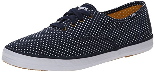 Keds Women's Champion Micro Dot Fashion Sneaker,Navy,6 M US (Fashion Dot Sneaker)