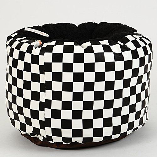 Phenomenal Lovely Pet Bed Lattice Pu Classic Black And White Leather Is Machost Co Dining Chair Design Ideas Machostcouk