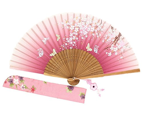 Wise Bird Chinese Fan Japanese Folding Fan, Vintage Retro