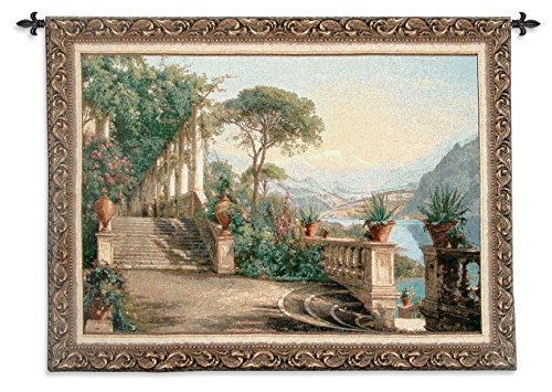Fine Art Tapestries ''Lodge At Lake Como'' Wall Tapestry, Large by Fine Art Tapestries