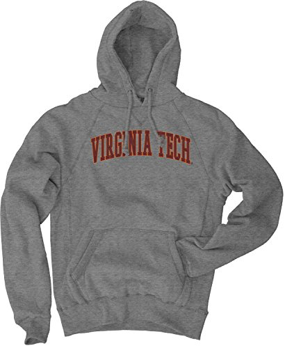 - NCAA Virginia Tech Hokies Men's Sanded Fleece Pullover Hoodie, Vintage/Faded Gunmetal, X-Large