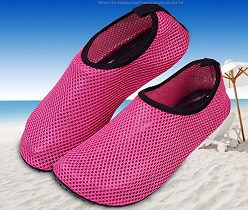 Outdoor Soft Wading Red Water Panegy Womens Foot On Slip Breathable Mesh Shoes Skin Slip Rose Anti Mens soled pOTXqvI