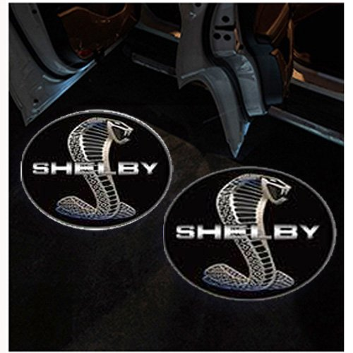 TaiFuMaoYi Car Door LED Lighting Entry Laser Ghost Shadow Projector Welcome Lamp 2pcs - Ford Mustang Shelby Logo (Shadow Shelby)