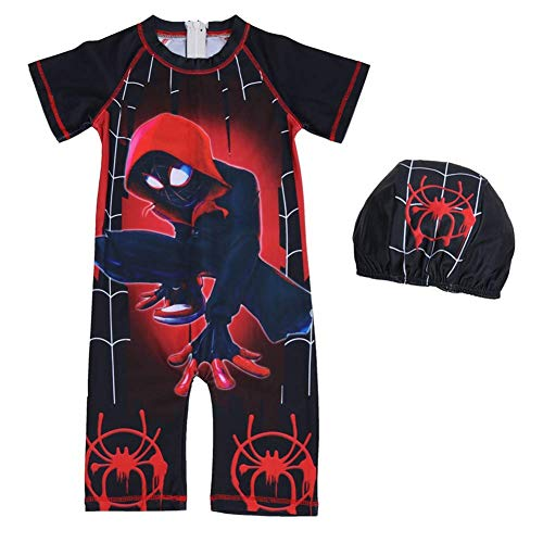 Spiderman Swimsuit for Kids (5, RED) -