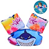 YoungRich Child Life Jacket, Kid Swimming Vest with Lovely Design Adjustable Safe and Comfortable Designed for Children Weighing 30-50 lbs Swimming Learning Water Activity Boat Beach Shark Pattern