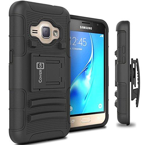Galaxy Express 3 Holster Case, CoverON [Explorer Series] Holster Hybrid Armor Belt Clip Hard Phone Cover For Samsung Galaxy Express 3 Holster Case - Black