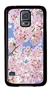 Samsung Galaxy S5 Beautiful pink flowers PC Custom Samsung Galaxy S5 Case Cover Black Kimberly Kurzendoerfer