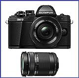 Olympus OM-D E-M10 Mark II Mirrorless Camera w/ 14-42mm EZ & 40-150 F4.0-5.6R Bk