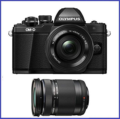 Olympus OM-D E-M10 Mark II Mirrorless Camera w/ 14-42mm EZ & 40-150 F4.0-5.6R Bk by Olympus