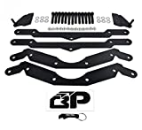 BlackPath - Polaris 2'' Lift Kit + Sway Bar Quick Disconnect RZR 800 Side-By-Side ATV Suspension Lift (Black) High Carbon Steel