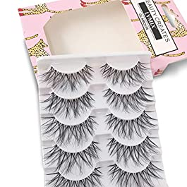 False Eyelashes Glamour Fake Lashes Reusable 100% Handmade (5 Pairs)