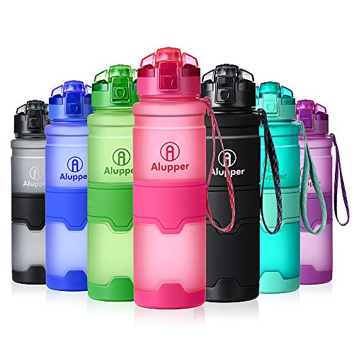 Water Bottle- Tritan Bottles for Kids/Adult- Leak Proof, Eco-Friendly Portable Sports Bottles with Filter, Flip Top Lid, Pop Opens with 1-Click - Reusable,BPA-Free (17OZ-500ML, Rose) ()