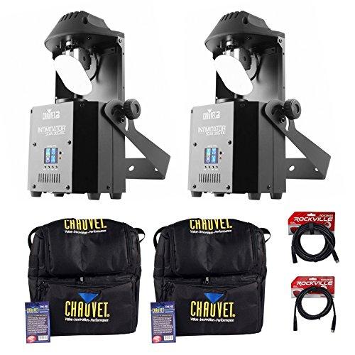 (2) Chauvet DJ Intimidator Scan 305 IRC LED Mirror Scanners+(2) Cases+DMX - Professional Dmx Scanner