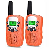 8 year old boys gifts - DIMY Girls Toys for 3-12 Year Old, Long Range Walkie Talkies for Kids Toys for 3-12 Year Old Girls Boys 3-12 Year Old Girl Gifts Orange DJ05