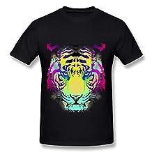KEMING Men's Tiger Look T-shirt L