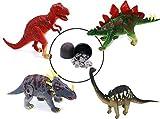 Langxun 3D Dinosaur Puzzle Tyrannosaurus/ Brontosaurus/ Styracosaurus/ Stegosaurus 4 pcs of Dinosaur Egg Packaging